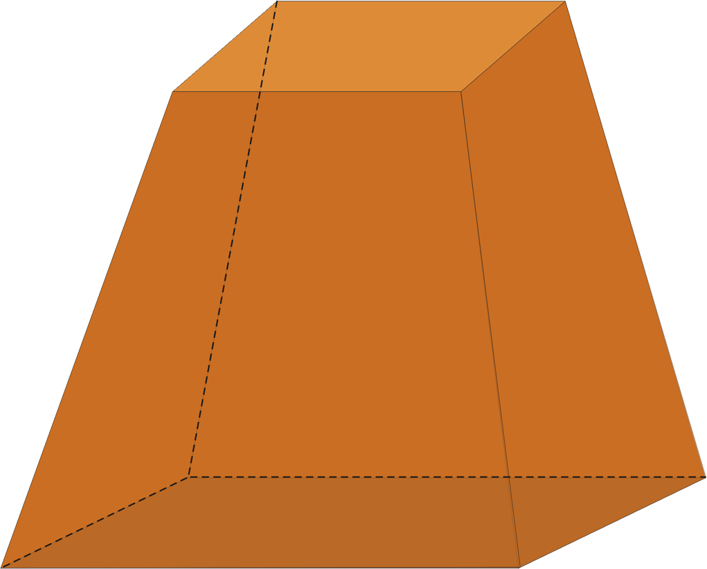 Trapezoid 3d png. Angle triangular prism pyramid
