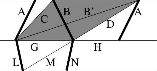 Trapezoid 6 cut png. A typical cylinder with