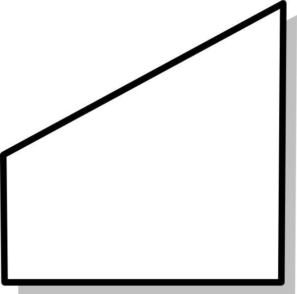 Trapezoid filled in black png. Trapezium clip art at