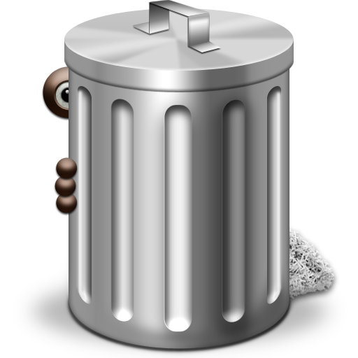 Transparent trash clear background. Can png images all