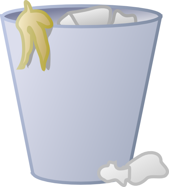 Trashcan clipart png. Full trash can clip
