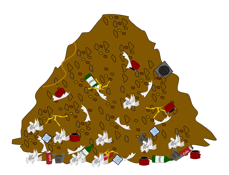 Garbage clipart sweeping. Pile of trash
