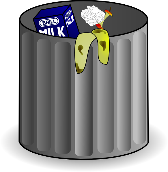Open garbage can png. Trash clip art at