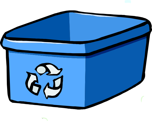 Trashcan clipart blue bin. Recycle clip art at
