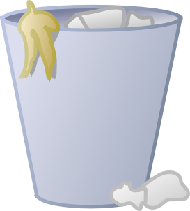 Trashcan clipart garbage cleaning. Full trash can clip