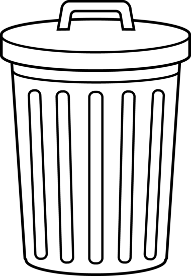 Trashcan clipart garbage place. Free trash can recherche