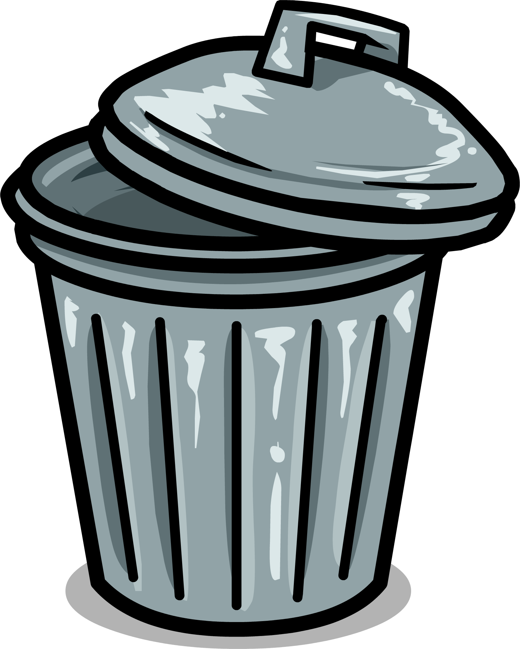 Trashcan clipart png. Image sprite club penguin