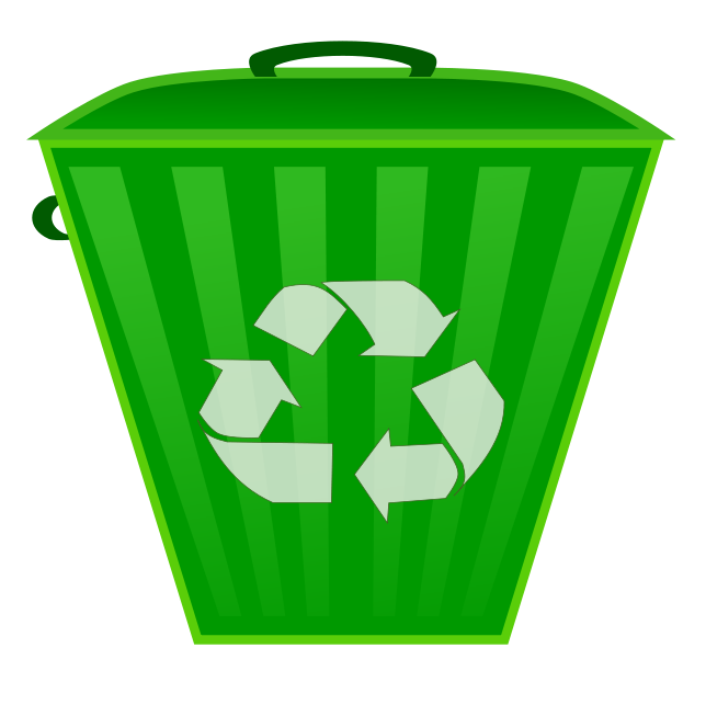 Trashcan clipart blue bin. Free recycle image download