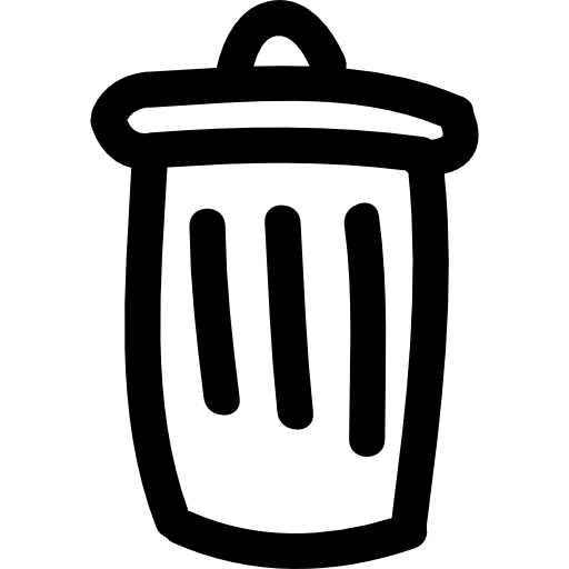 Trashcan drawing basura. Trash can hand drawn