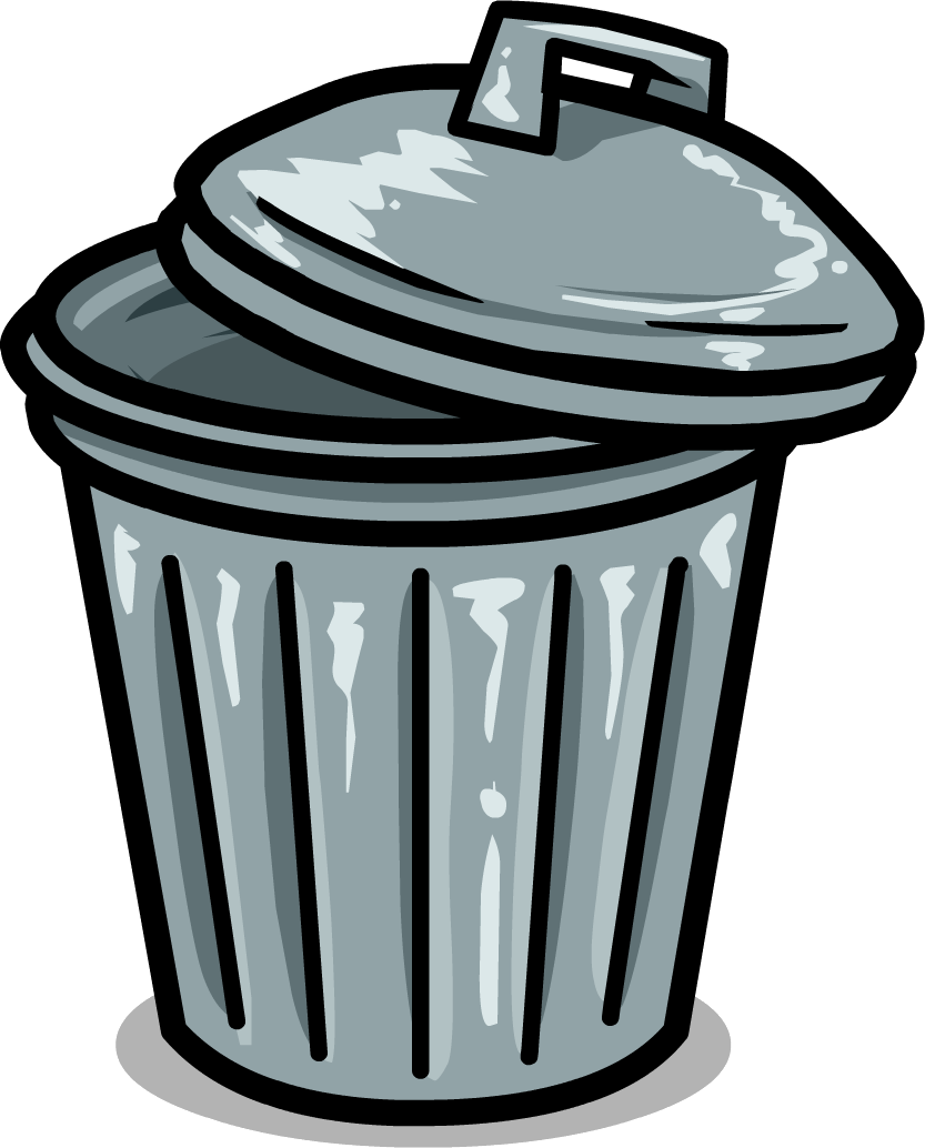 Trashcan drawing basura. Vector free stock
