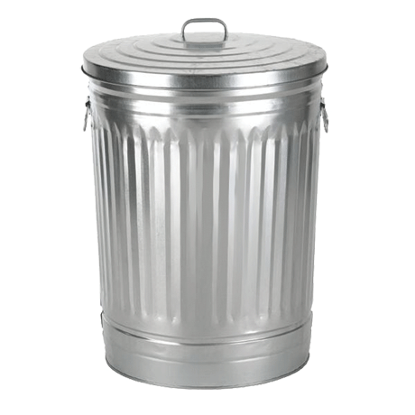 Transparent trashcan. Trash can png free