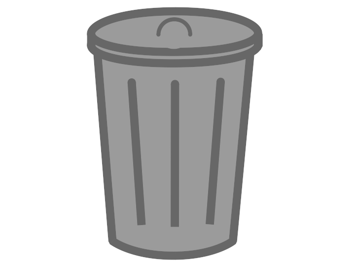 Transparent trashcan. Trash can png