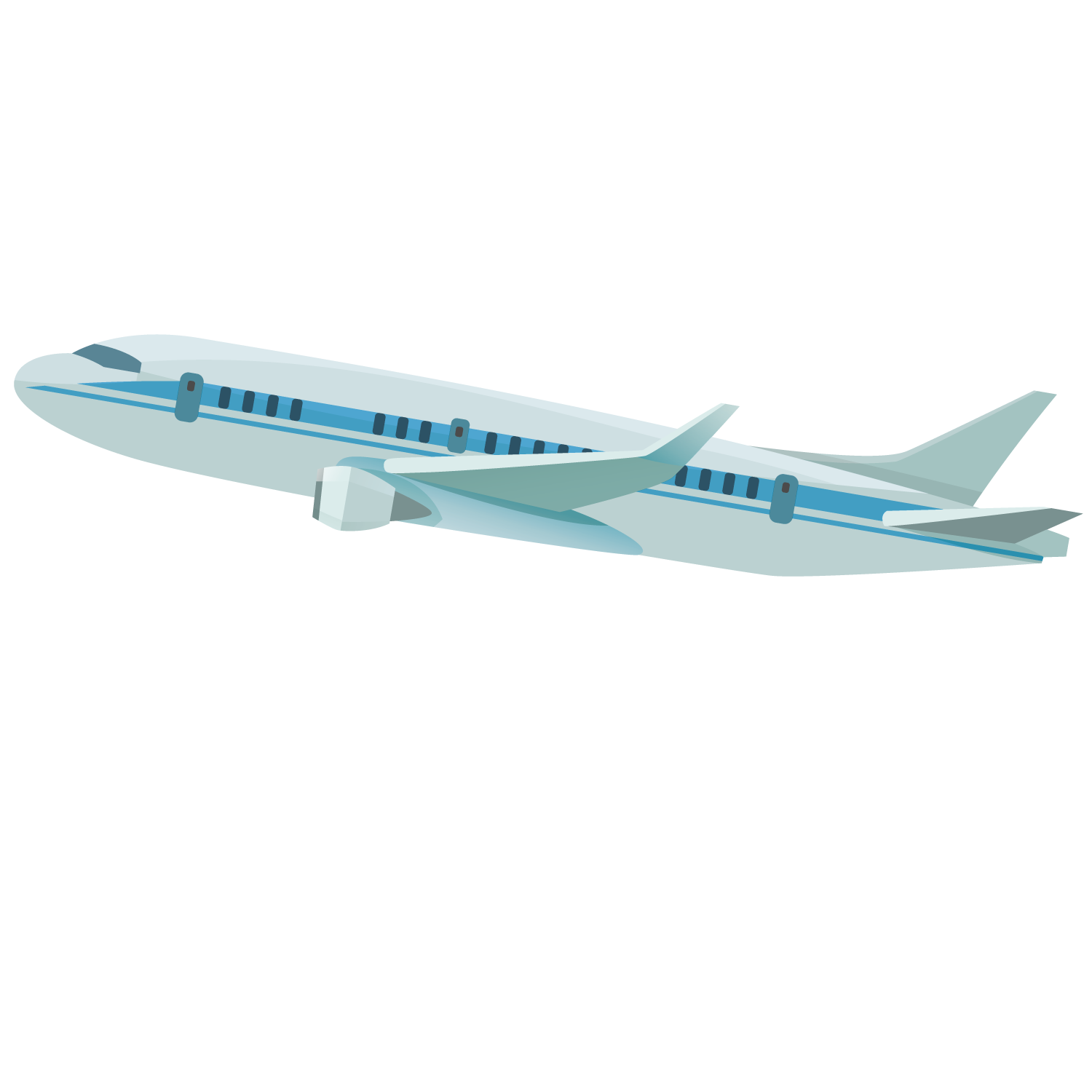 Aircraft vector airplane drawing. Wide body flying plane