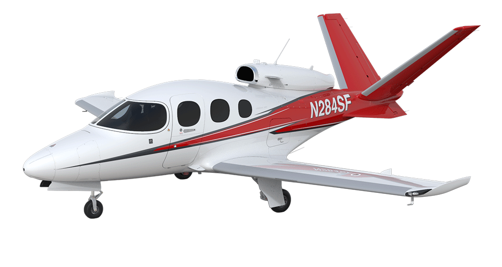Aircraft vector jet plane. Vision cirrus explore the