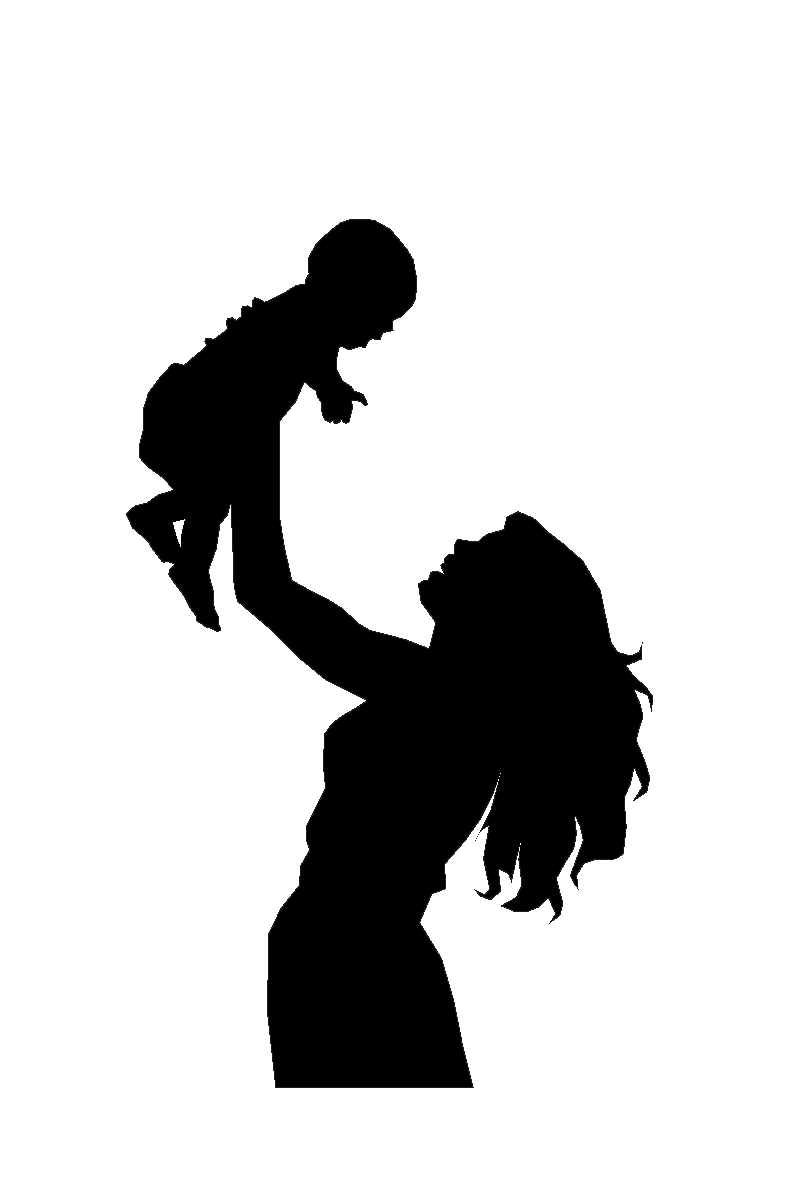 toddler svg mother