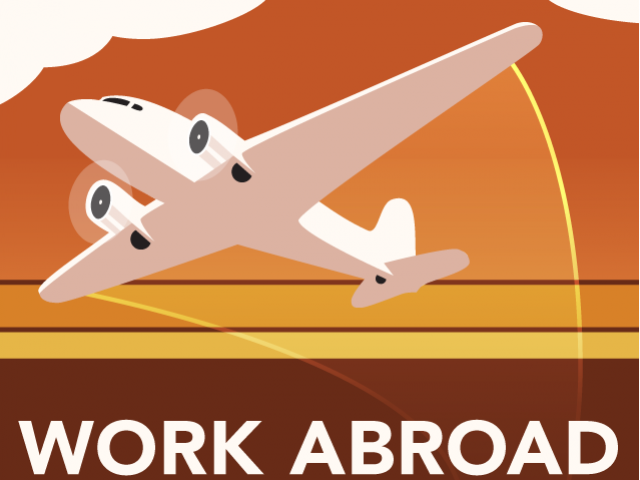 travel clipart work abroad