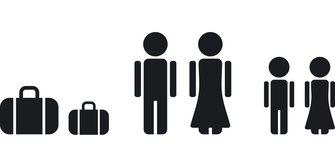 Travel clipart work abroad. Vacation family together luggage