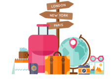 Travel png. World vector clipart psd