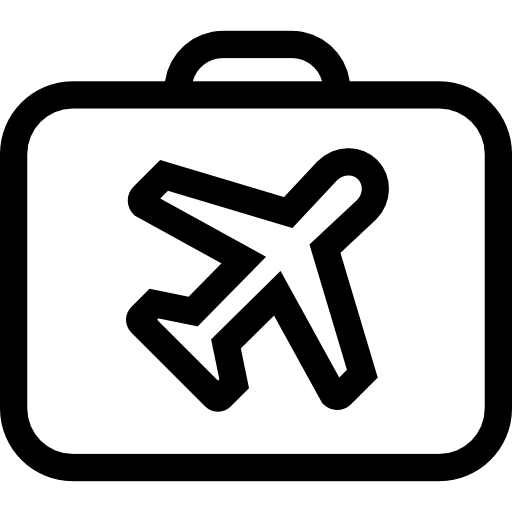 Travel png icon. Luggage free icons