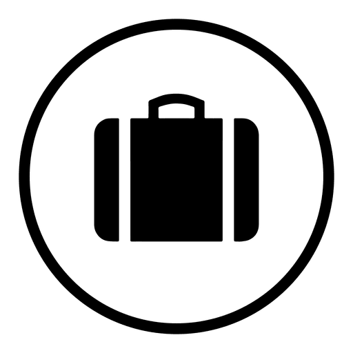 Travel png icon. Airport round silhouette transparent