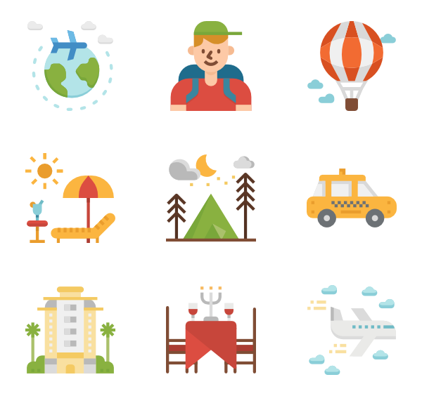 Travel png. World icon packs