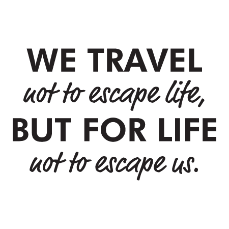 Travel quotes png. We for life wall