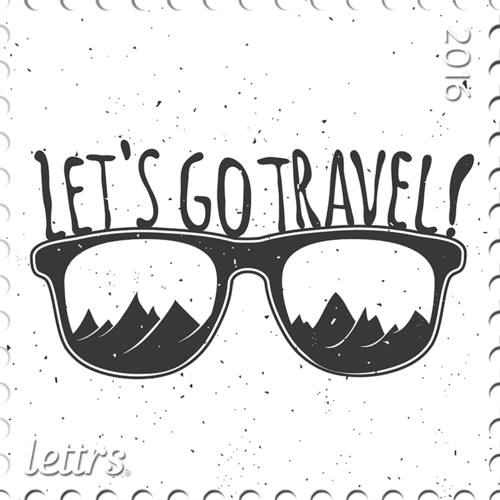 Travel stamp png. Lettrs take the day