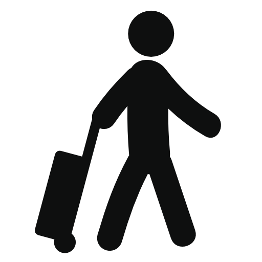 Traveler vector backpacker. Free tourist icon download