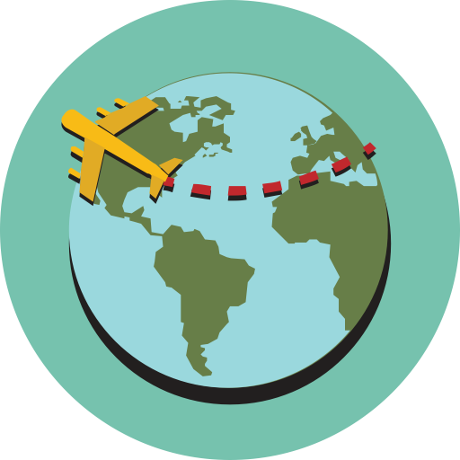 Traveler vector world. Group travel icons download