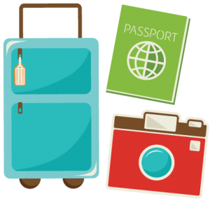 Traveling clipart scrapbook. Daily free cut file