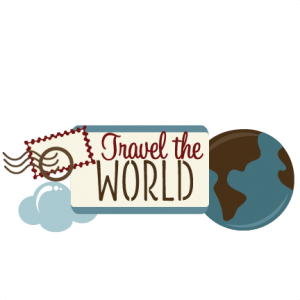 Traveling clipart scrapbook. Travel the world svg