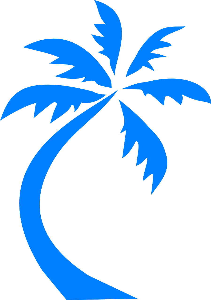 Trip clipart beach holiday. Travel palm tree blue
