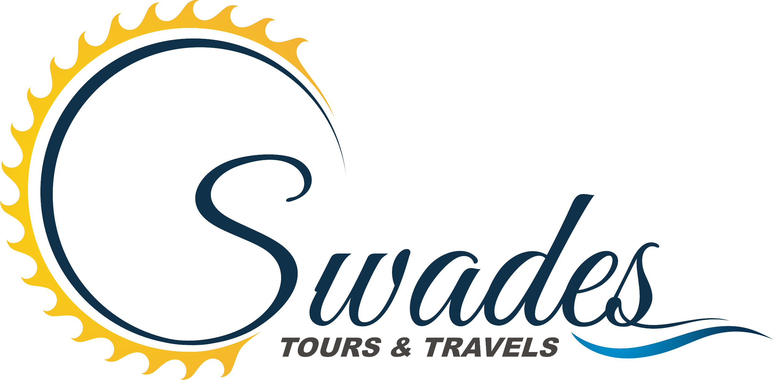 Traveling clipart travel logo. Swades travels agency in