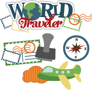 Traveling clipart scrapbook. World traveler svg vacation