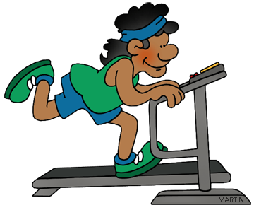 Workout clipart treadmill. Free exercising cliparts download