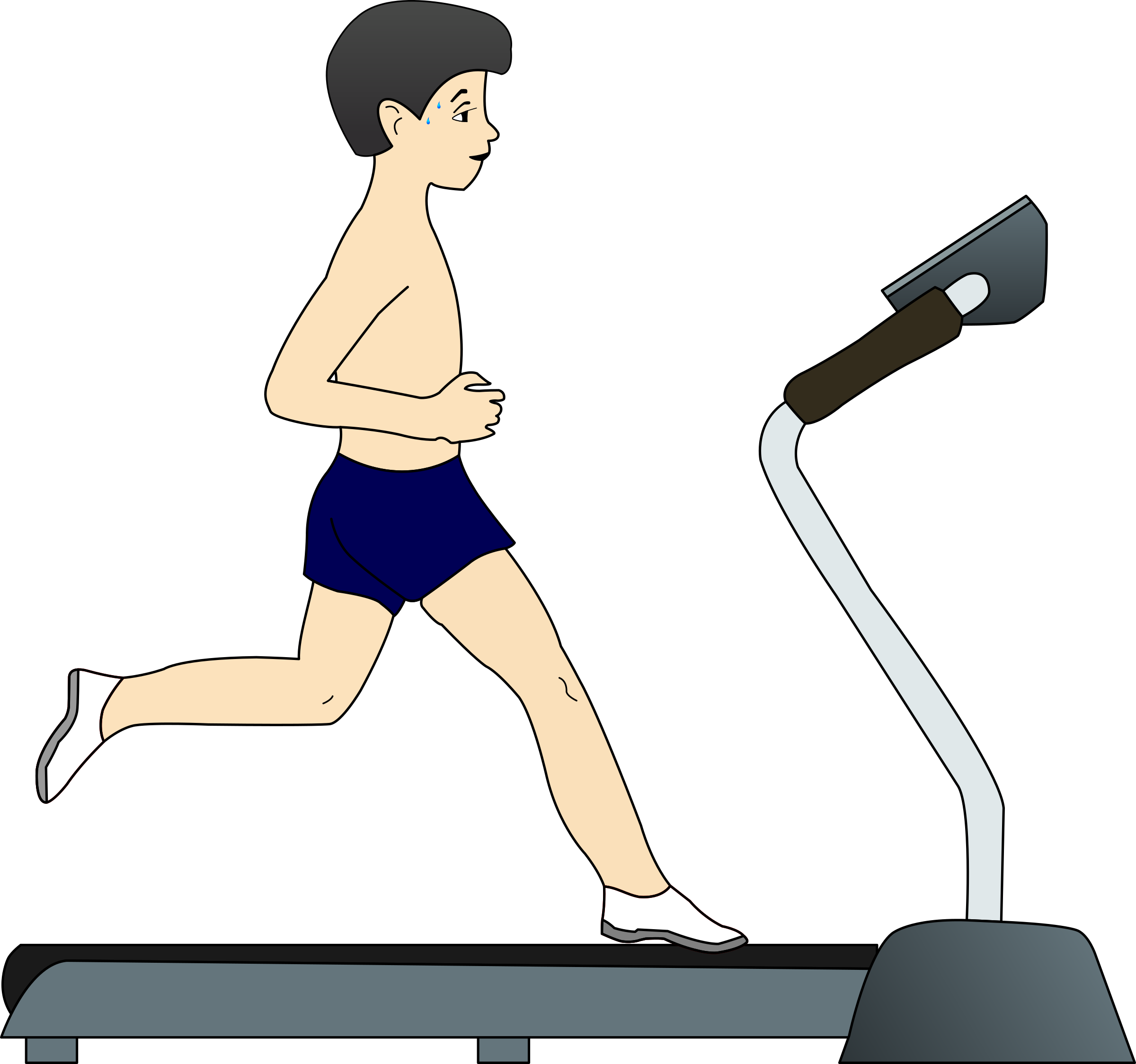 Boy running png. On treadmill icons free