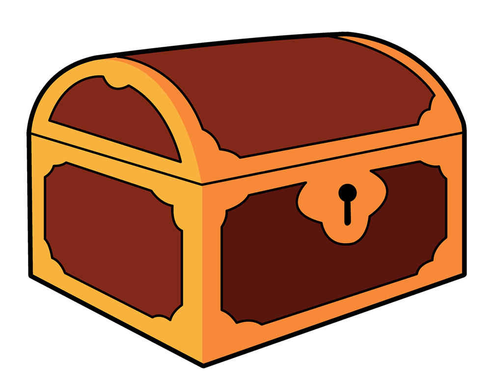 Treasure chest clipart png. Cute