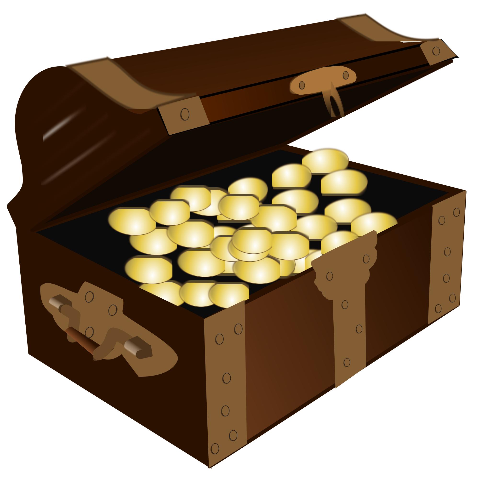 Svg boxes treasure. File chest with gold