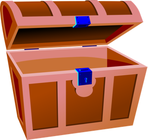 Treasure clipart found treasure. Chest pirate graphics empty