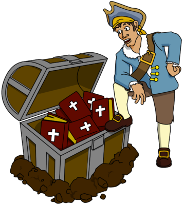 Treasure clipart found treasure. Image bible pirate clip