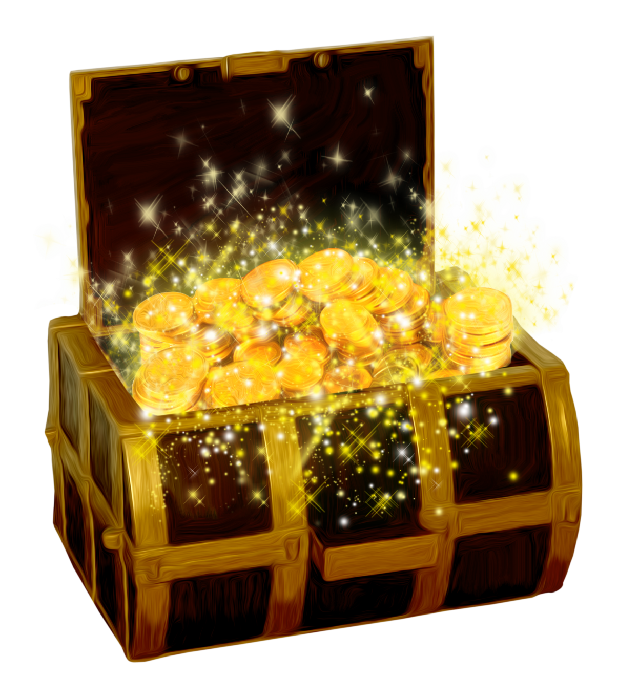 gold treasure chest png