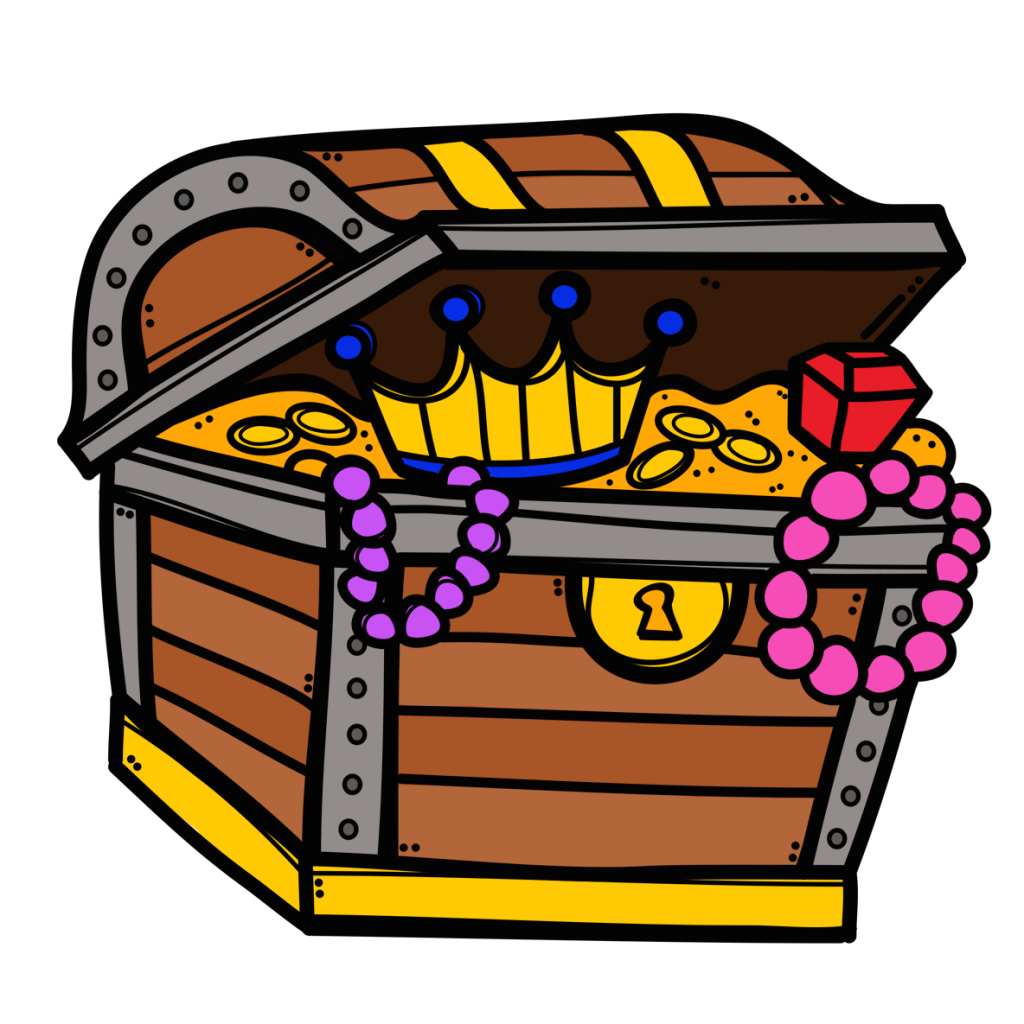 Chest clip infographic. Winsome treasure clipart open