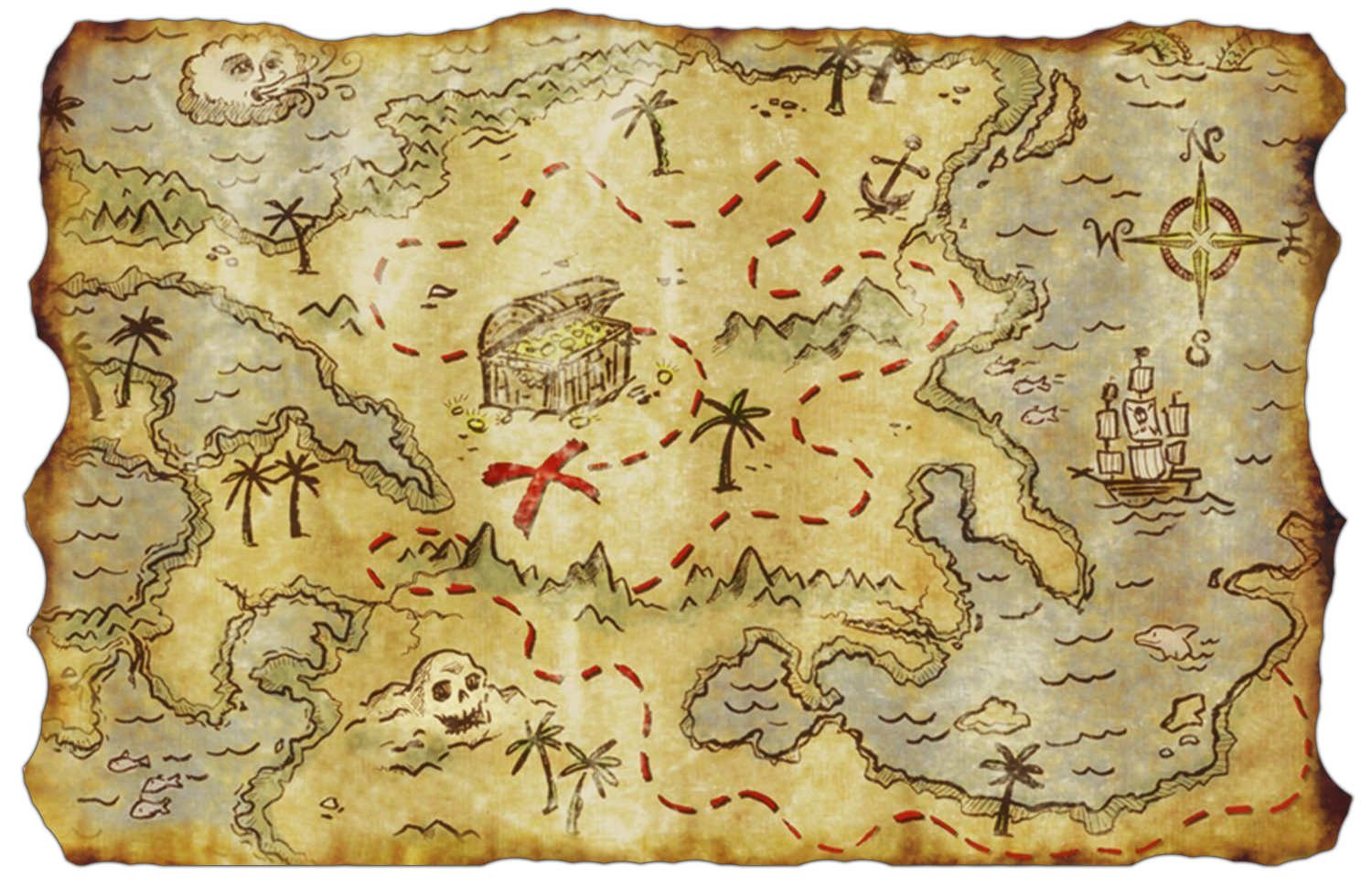 Treasure map png. The travian legends forum