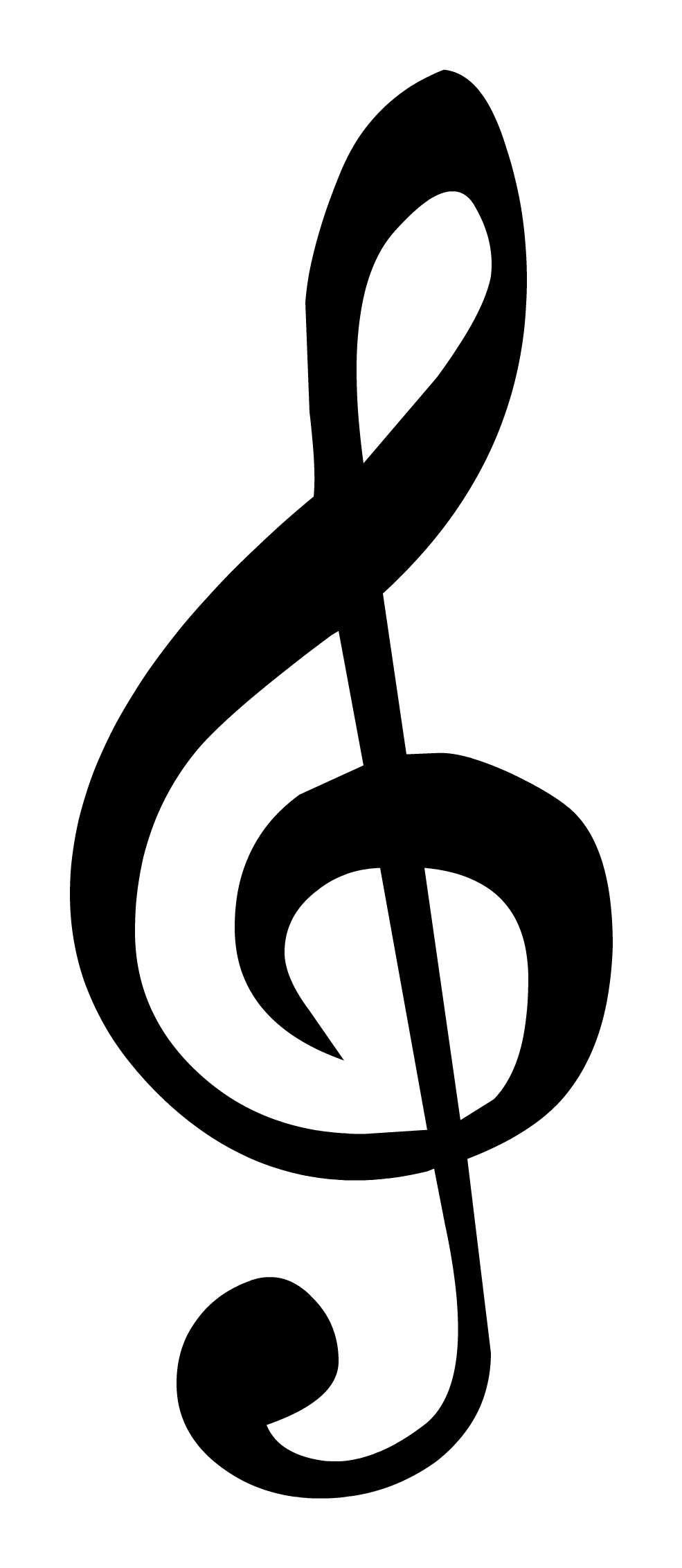 Treble note png. Pictures of clefs image