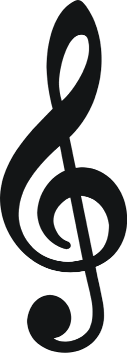 Treble clef clipart small. Free music note