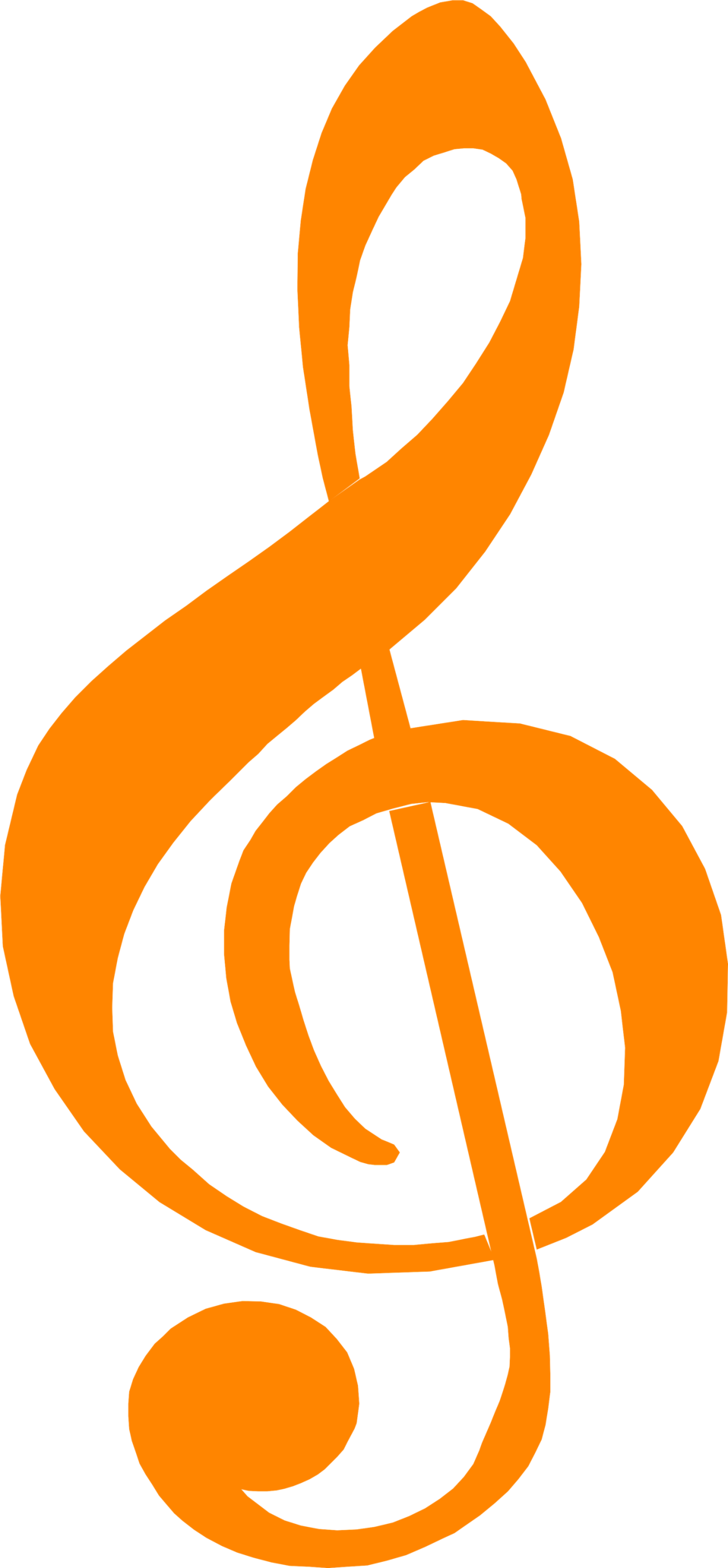 Clarinet vector treble clef. Free stock photo illustration