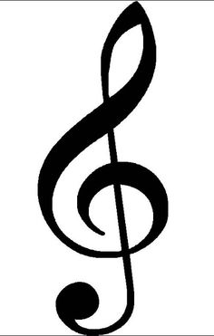 Treble clef clipart thin. I am also considering