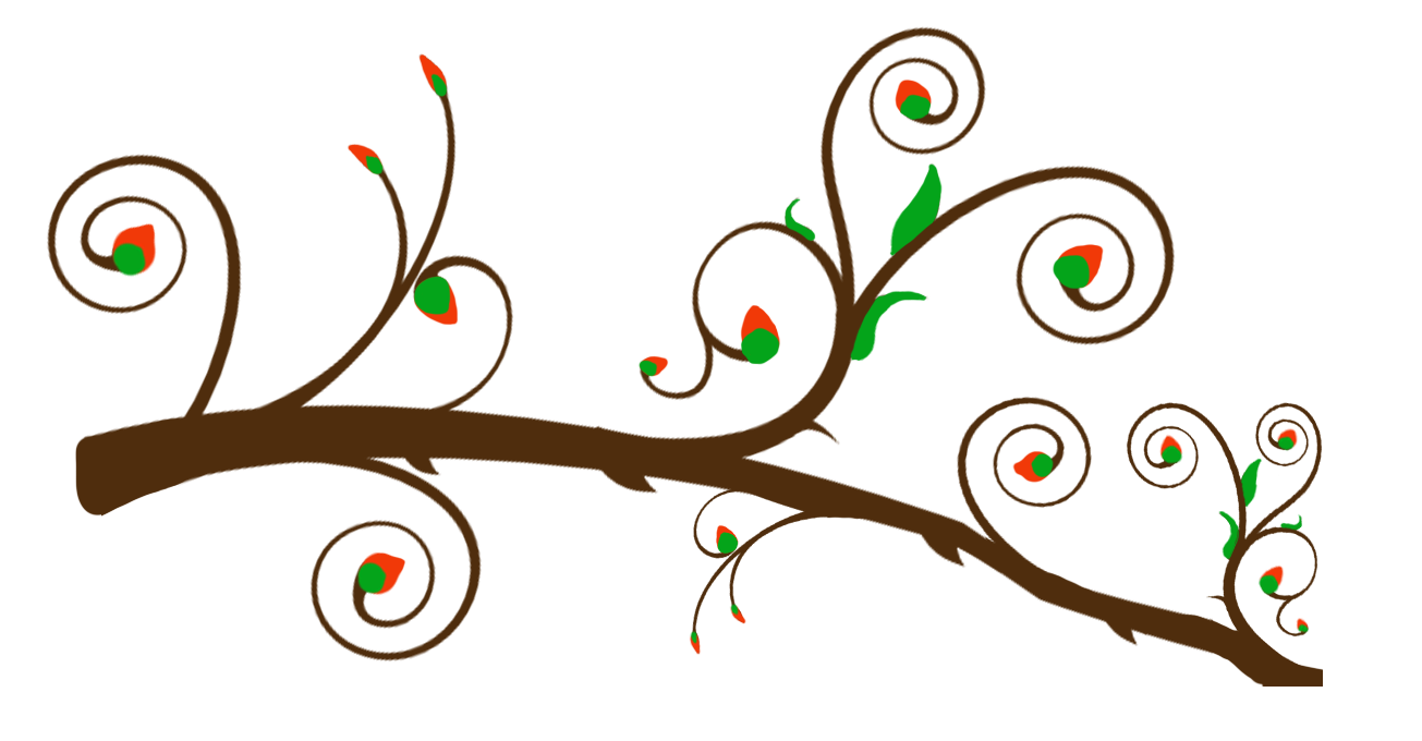 Tree branch vector png. Collection of cute