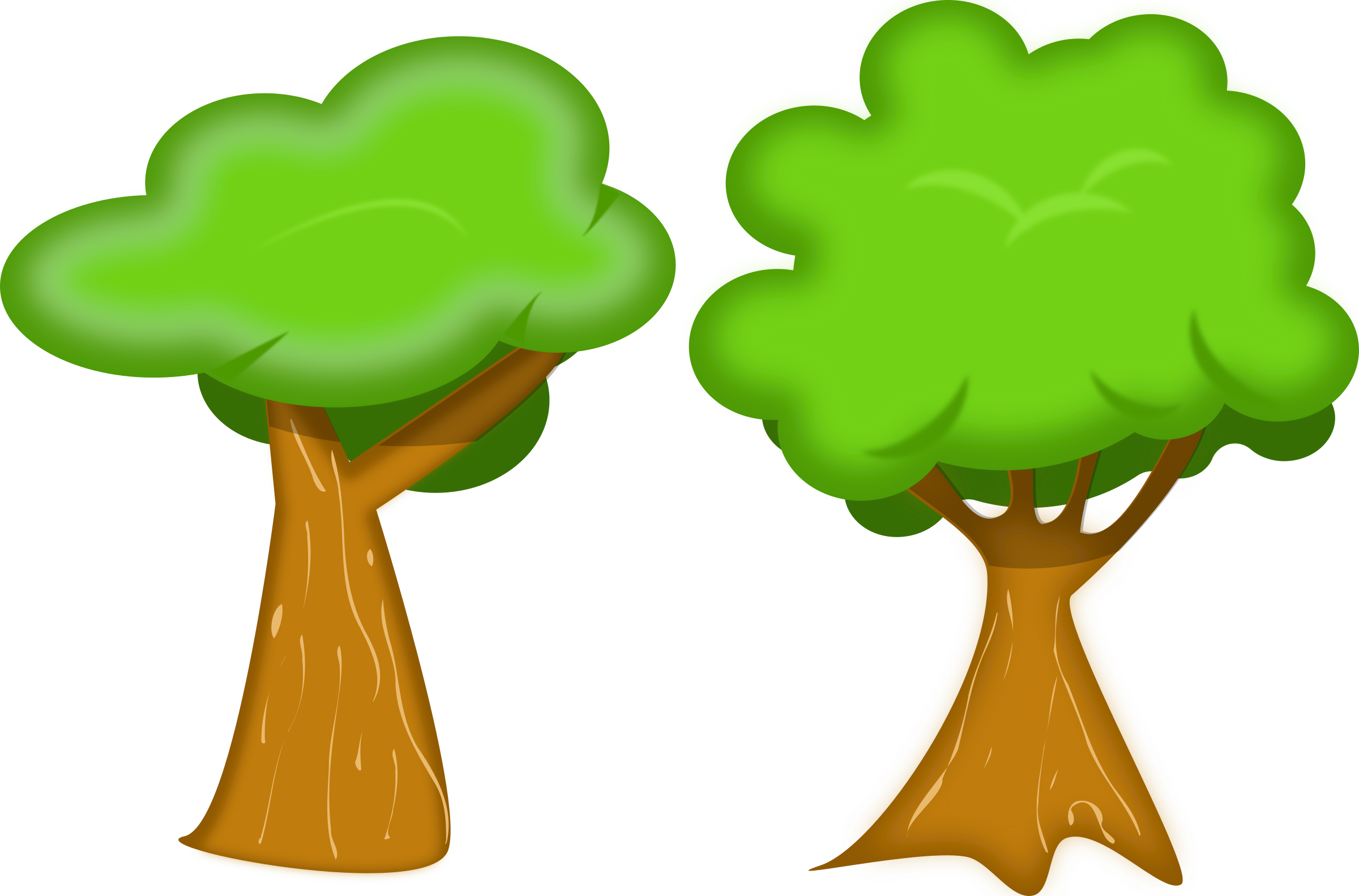 Soft trees icons free. Tree cartoon png vector transparent library