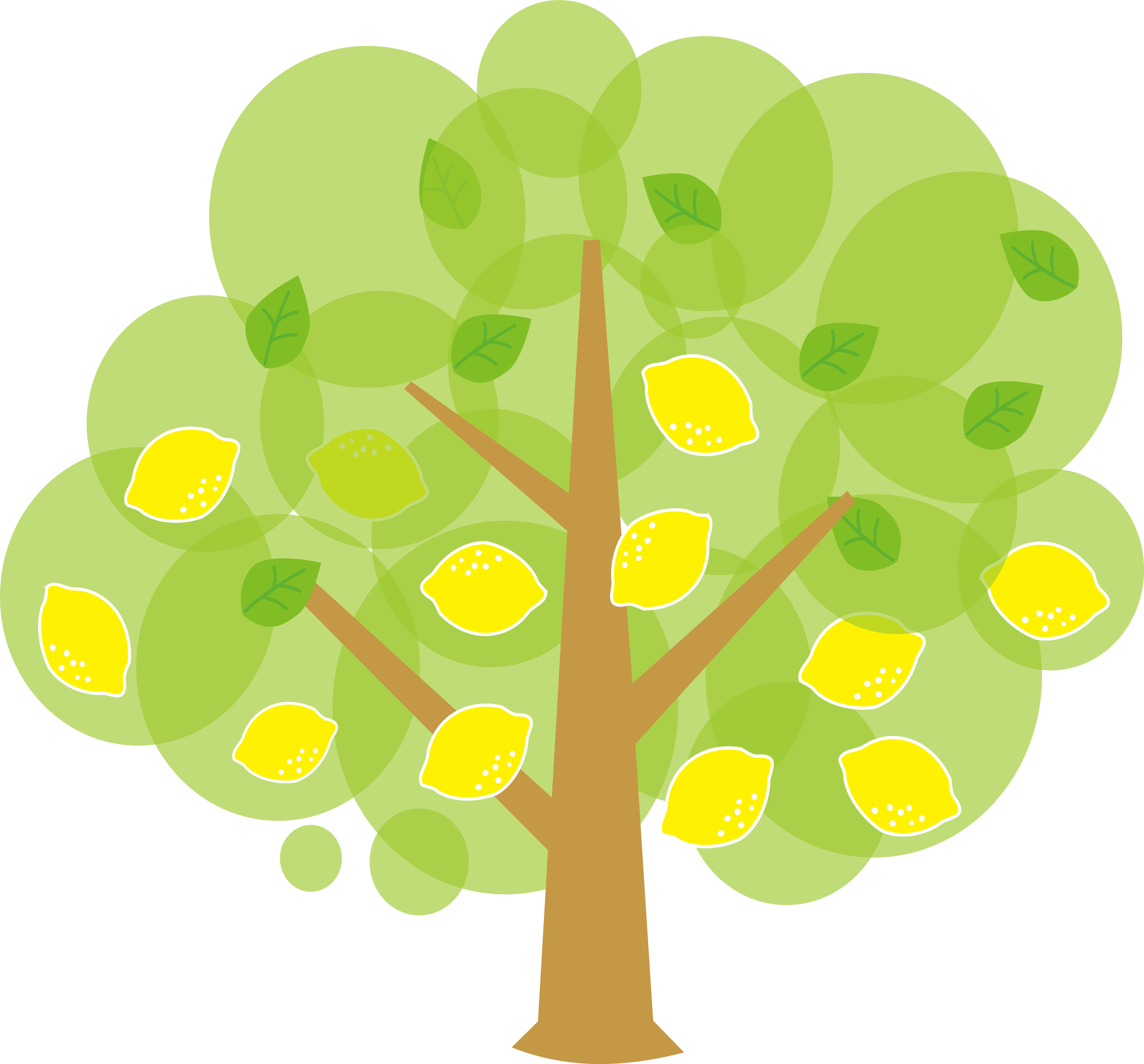 Lemon icons free and. Tree cartoon png picture royalty free stock